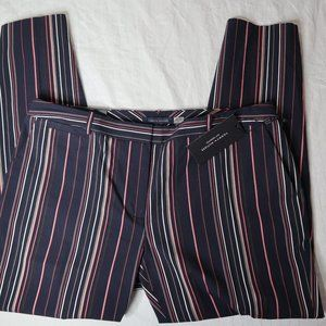NWT Tommy Hilfiger Striped Size 6 Cropped Pant